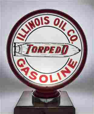 Illinois Oil Co Torpedo Gasoline Single Lens Globe Body