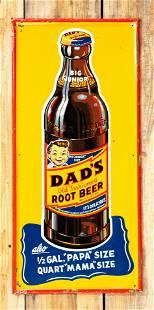 Dad's Root Beer Big Junior SST Embossed Metal Sign 8.25