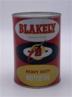 Blakely Heavy Duty Motor Oil 1 Quart Metal Can TAC 9