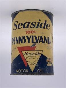 Seaside Pennsylvania Motor Oil 1 Quart Metal Can 6.5