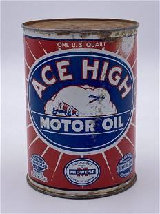 ACE High Motor Oil 1 Quart Metal Can TAC 7