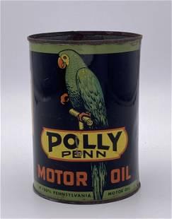 Polly Penn Motor Oil 1 Quart Metal Can TAC 8.9 & 8.25