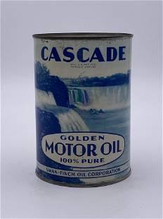 Full 1 Quart Cascade Golden Motor Oil Can TAC 8