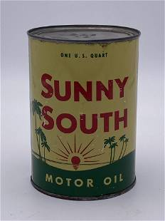 Sunny South Motor Oil 1 Quart Metal Can TAC 8.25