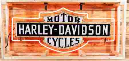 Harley-Davidson Bar & Shield SS Porcelain Neon Sign