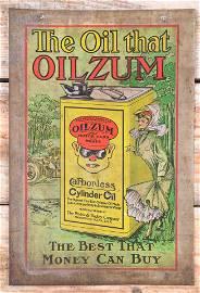 Rare The Oil That Oilzum Bucktooth Boy & Lady SST Sign