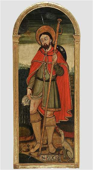 Saint Rochus, Painting, Early 16th century