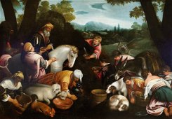 Leandro Bassano (workshop) Animals at the trough