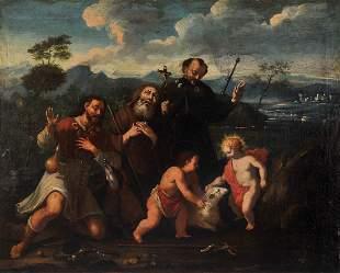 Pilgrim Saints, Painting, Italy, 17th / 18th c.
