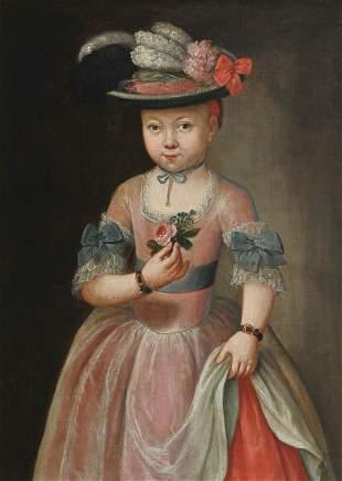 Portrait of a Girl, Painting, Austria, ca. 1750