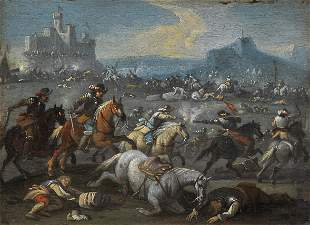 Pair of Battle Paintings, 17th / 18th century
