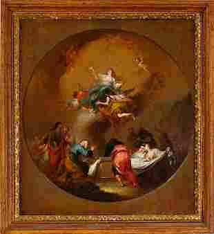 Bozzetto, Assumption of Mary, mid 18th century