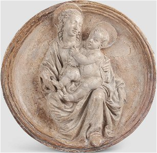 Tondo, Mother with Child, ca. 1440