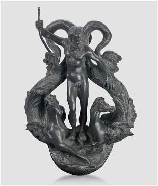 Door Knocker, Cast Bronze, 16th / 19th century