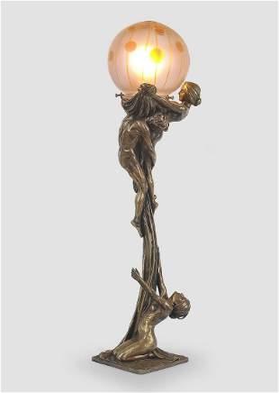 Art Nouveau Lamp, Gurschner & Loetz