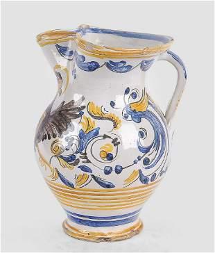 Double Eagle Jug, Pesaro, 18th century