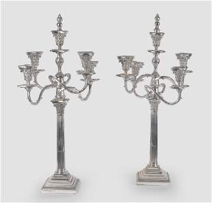 Pair of Decorative Candlesticks, Silver Plated