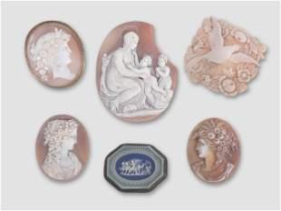 Six Cameos, 19th century