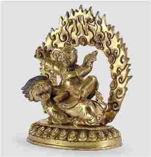 Tibet, Gilt Bronze, 17th / 18th century