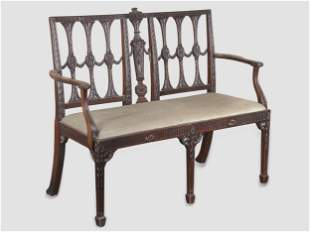 Chippendale Bench, England, 18th century