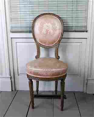 Louis XVI Style Side Chair,  French, 19th Century