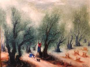 Reuven Rubin (1893 - 1974) Harvest of Olives