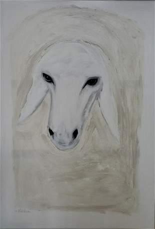 Menashe Kadishman (1932-2015) Head of a Sheep