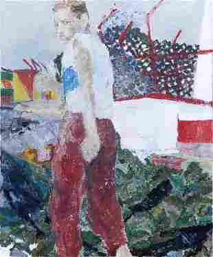 Pamela Levy (1949-2004) Man Looking over his Shoulder