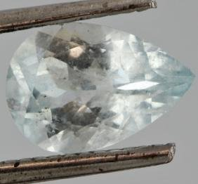 1.69ct Sky Blue Cuprian Tourmaline Pear Cut