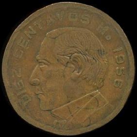 1956 Mexico 10c VF ERROR