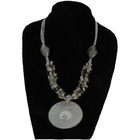 New Handcarved Shell Necklace Choker Pendants