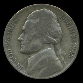 1943P/D/S Jefferson Silver WAR Nickel Set