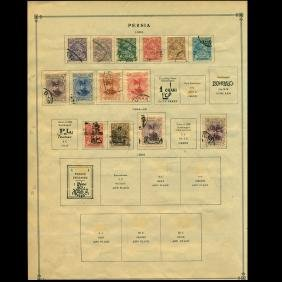 1903-5 Persia Stamp Various Stamps on Album Page
