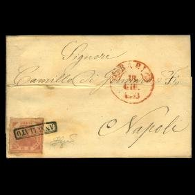 1858 Italy Naples 2g On Cover