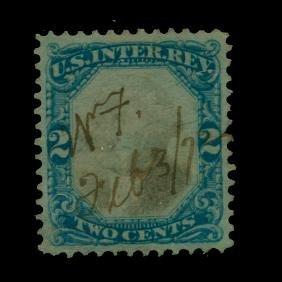 """1871 US 2c Revenue Stamp """"Ghost Head"""" ERROR"""