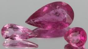 2.85ct Pink Tourmaline Pear Cut Parcel