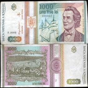 1991 Romania 1000 Lei Circulated Note