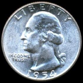 1954 Washington 25c CHOICE+ Unc Double Die ERROR
