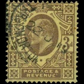 1911 Britain Edward 3p Stamp