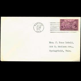 1937 US First Day Postal Cover