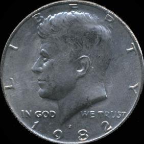 1985P Kennedy 50c GEM+ Unc NO FG ERROR