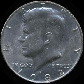 1982P Kennedy 50c GEM Unc+ NO FG ERROR