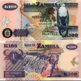 2005 Zambia 100 Kwacha Note GEM Crisp Unc