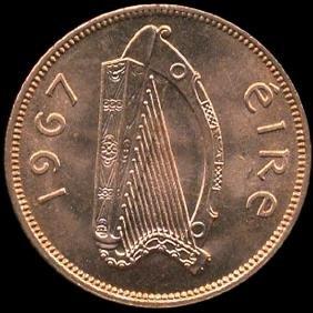 1967 Ireland 1/2p GEM Unc+