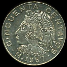 1967 Mexico 50c GEM+ Unc
