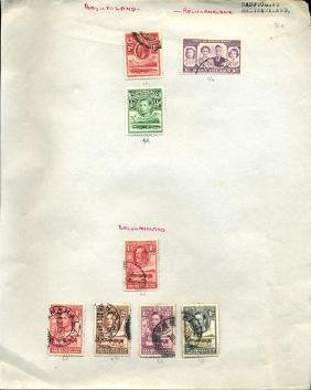 1930s Basutoland/Bechuanaland Stamp Album Pg 8pcs