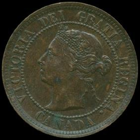 1884 Canada Penny MS CHOICE+ Unc