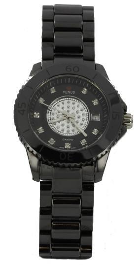 New Ice Time Venus Diamond Face Black Ceramic Watch