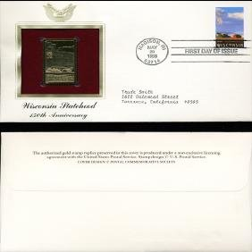 1998 US 32c First Day Cover w/ Gold Foil Replica