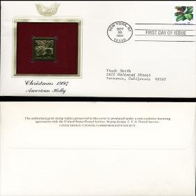 1997 US 32c First Day Cover w/ Gold Foil Replica